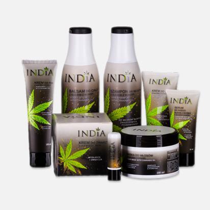 india productos de cosmética y alimentación
