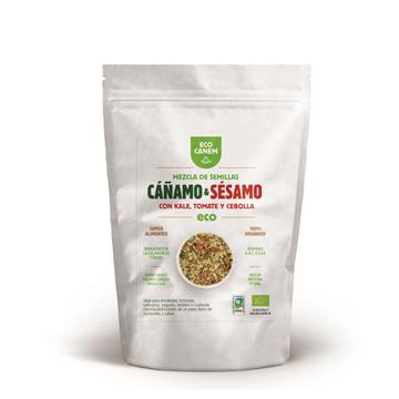 Imagen de Semilla de Cáñamo y Sésamo con Kale, Tomate y Cebolla Eco Canem 200 gr.