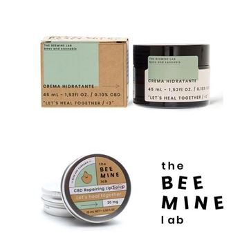 Imagen de Pack Crema Hidratante CBD + Lip Balm con CBD The Beemine Lab 45ml.