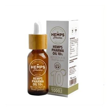 Imagen de HEMPS PHARMA OIL 10% CBD 10 ml.