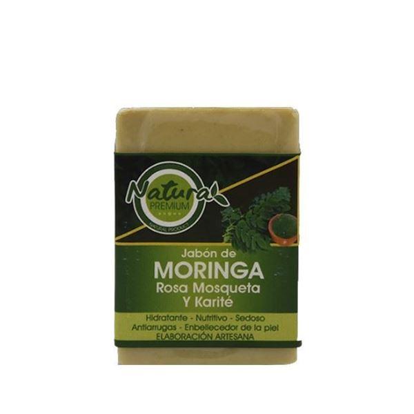 Imagen de Jabón de Moringa, Rosa Mosqueta y Karité 100 gr.