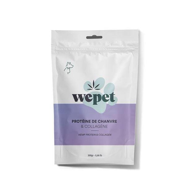Imagen de Proteína y colágeno de cáñamo Wepet para animales 300gr.
